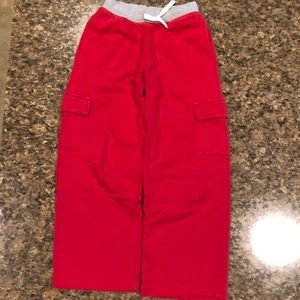 Hanna Andersson Boys Sweatpants size 10 RED